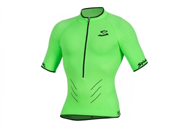 maillot manches courtes spiuk 2017 team vert s