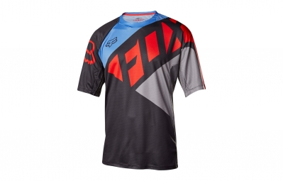 maillot manches courtes fox demo gris rouge s