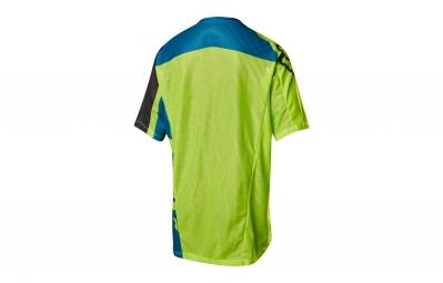 maillot manches courtes fox demo vert bleu m