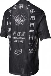 maillot manches courtes fox demo noir blanc xl
