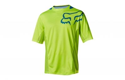 maillot manches courtes fox demo jaune bleu s