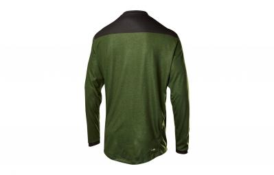 maillot manches longues fox indicator vert l