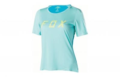 maillot manches courtes femme fox attack bleu s