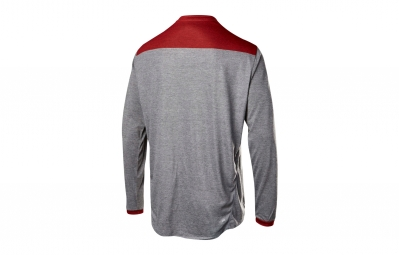 maillot manches longues fox indicator gris rouge xl
