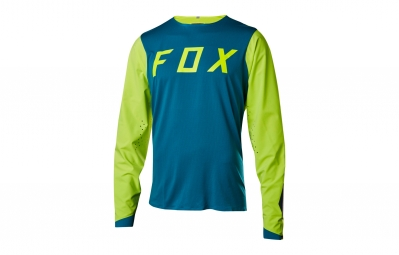 maillot manches longues fox attack pro bleu jaune s