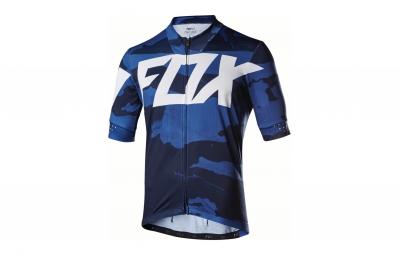 maillot manches courtes fox ascent bleu m