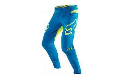 pantalon fox flexair bleu jaune 34