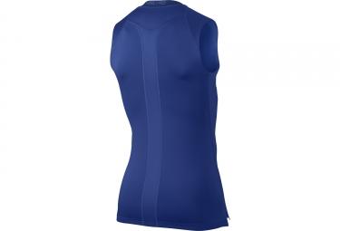 maillot sans manches de compression nike pro bleu m