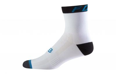 paire de chaussettes fox 6 logo trail blanc noir 43 45