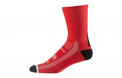 paire de chaussettes fox 8 logo trail rouge 39 42