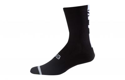 paire de chaussettes fox 8 logo trail noir 43 45