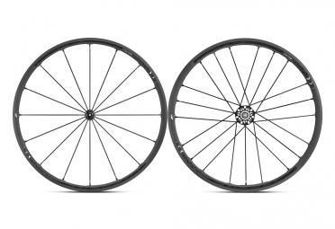Paire de roues fulcrum racing zero nite a pneu corps shimano sram noir