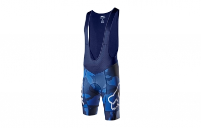 cuissard court fox ascent bleu camo l