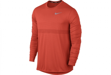 Maillot Manches Longues NIKE ZONAL COOLING RELAY Orange