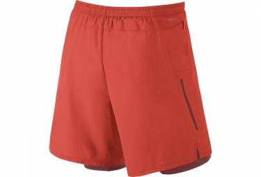 Short 2-en-1 Homme NIKE PHENOM 18cm Orange