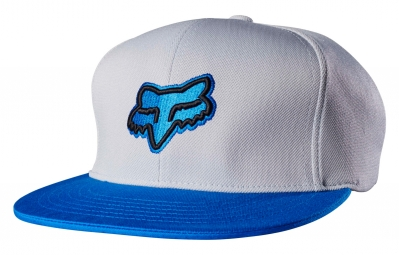 Casquette Fox Slasher Head Snapback Gris Bleu