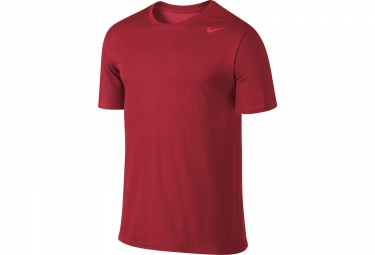 maillot manches courtes nike dry training rouge xs