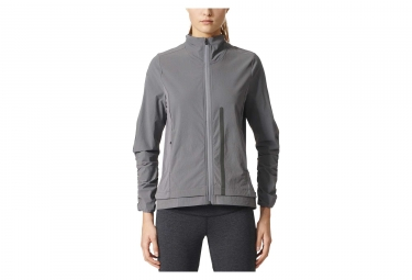veste coupe vent impermeable femme adidas running ultra energy gris xs