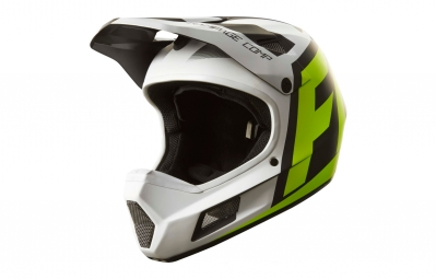 casque integral fox rampage comp creo blanc jaune xl 61 62 cm