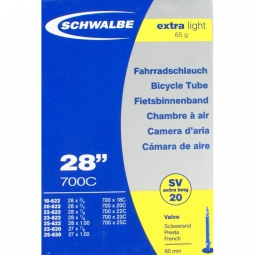 Cámara SCHWALBE 700 x 20 X-LIGHT Presta 60 mm