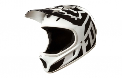 casque integral fox rampage race blanc noir xl 60 62 cm