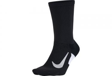 Paire de chaussettes nike elite cushion crew noir blanc 38 40