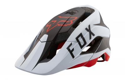 casque fox metah flow blanc noir rouge xl xxl 59 64 cm