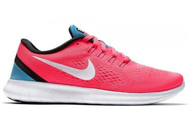 Nike free rn rose blanc bleu femme 38