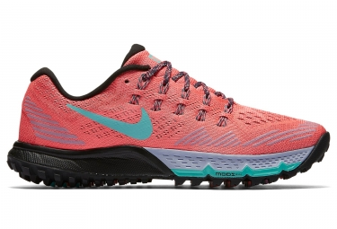 nike zoom air terra kiger 3 orange bleu noir femme 40