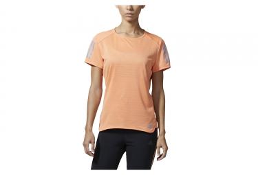 Maillot manches courtes femme adidas running response orange l