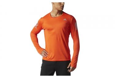 Maillot manches longues adidas running response orange m