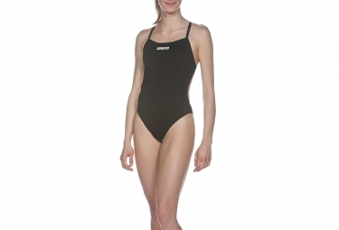 Maillot de Bain Femme ARENA SOLID LIGHTECH HIGH Noir
