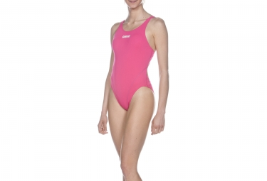 Maillot de bain femme solid tech high rose 42