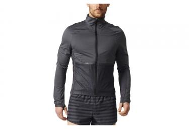 veste coupe vent impermeable adidas running adizero gris noir s