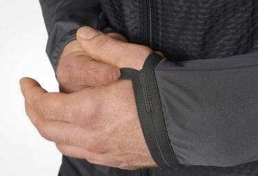 veste coupe vent impermeable adidas running adizero gris noir l
