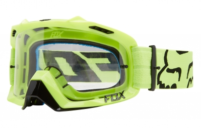 Masque fox air defence jaune ecran transparent