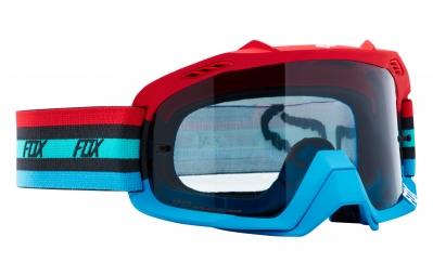 Masque Fox Air Defence Seca Rouge Bleu Ecran Transparent