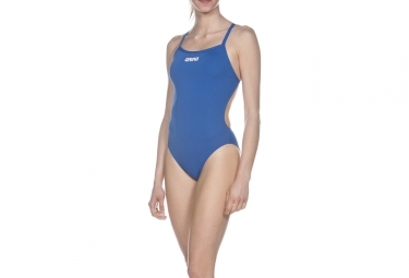 Maillot de bain femme arena solid lightech high bleu 38
