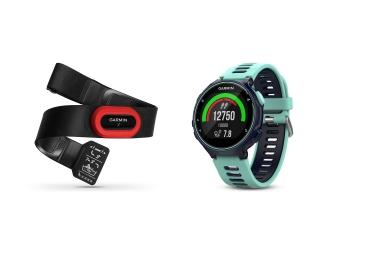 Garmin montre forerunner 735xt gps pack course a pied bleu