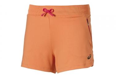 Short femme asics fuzex 14cm knit orange xs