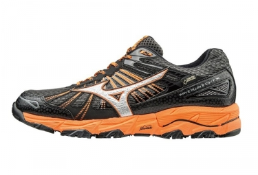 mizuno wave mujin 3 gtx argent orange homme 44 1 2