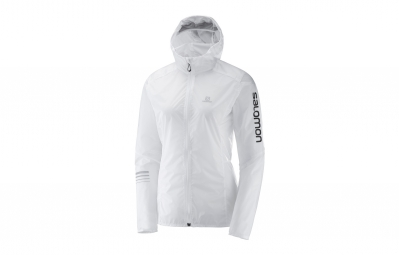 Veste coupe vent salomon lighting wind blanc m