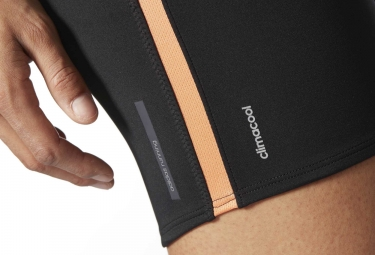 Cuissard de Sport Femme adidas running RESPONSE Noir Orange