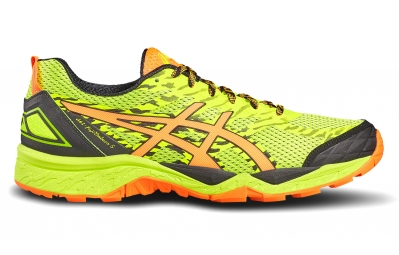 asics gel fujitrabuco 5 jaune orange 44 1 2