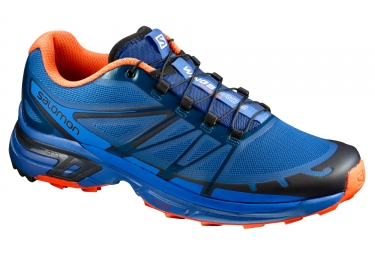 salomon wings pro 2 bleu orange 46 2 3