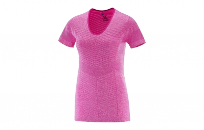 maillot manches courtes femme salomon elevate rose xs