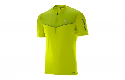 maillot manches courtes salomon fast wing jaune xl