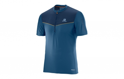 maillot manches courtes salomon fast wing bleu xl