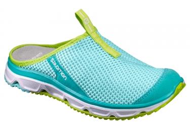 Chaussures de recuperation salomon rx slide 3 0 femme bleu vert 40
