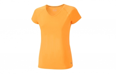 Maillot manches courtes femme mizuno activ orange m